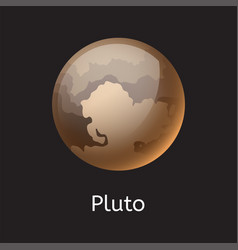 High quality space planet galaxy astronomy pluto vector