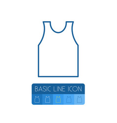 isolated singlet outline shirt element can vector image vector image
