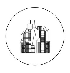 megalopolis icon in outline style isolated on vector image