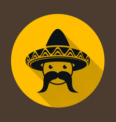 Mexican with sombrero vector