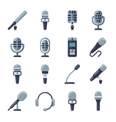 microphone dictaphone interview digital recorder vector image vector image