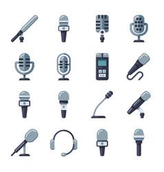 microphone dictaphone interview digital recorder vector image vector image