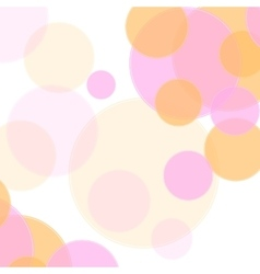 Pastel colors abstract minimal circles design vector