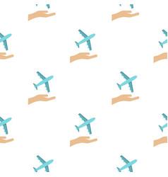 plane logo flat style vector image vector image