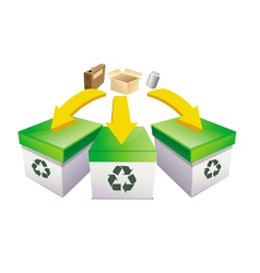 recycle boxes vector image vector image