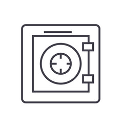 safesecurityprotectionbank line icon vector image