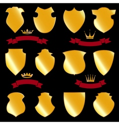 Shields gold vector