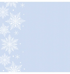 snowflakes border vector image vector image