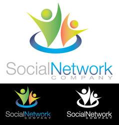 Social community health icon logo vector