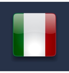 Square icon with flag of Italy vector image vector image