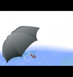 umbrella in the rain vector image vector image