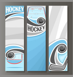 vertical banners for ice hockey vector image vector image