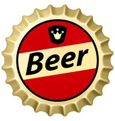 Beer cap vector image
