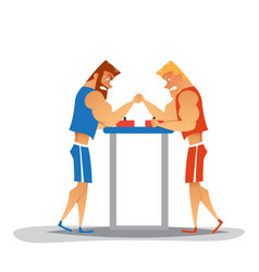 arm wrestling competition vector image