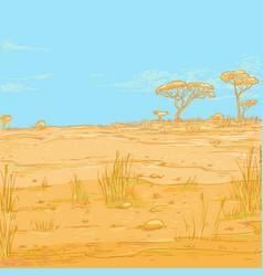 color sketch landscape vector image