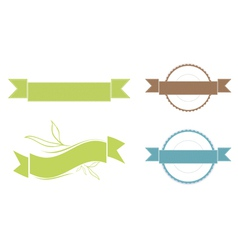 Ribbon copyspace design set vector