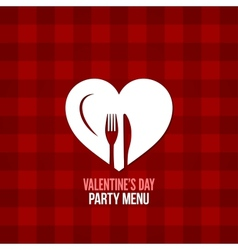 Valentines day menu food drink design background vector