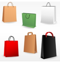 Shopping bags set vector image
