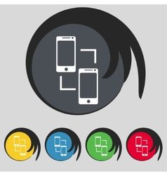 Synchronization sign icon smartphones sync symbol vector