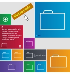 Document folder sign accounting binder symbol set vector