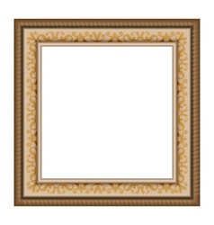 Wooden frame isolated on white vector