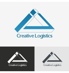 Triangle impossible logo design template vector