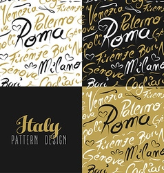 Travel italy city seamless pattern gold milan vector