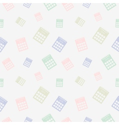 Seamless pattern with calendars vector