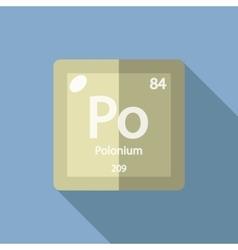 Chemical element polonium flat vector