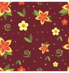 Seamless floral ornament vector