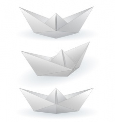 Paper ships vector