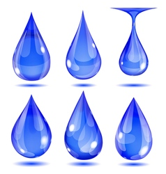 Set of opaque drops vector