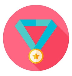 Award Medal Circle Icon vector image