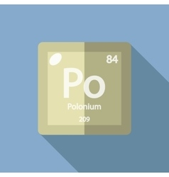 Chemical element Polonium Flat vector image vector image