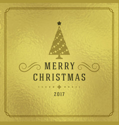 Christmas greeting card or poster design vector