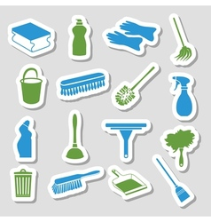 Cleaning stickers vector