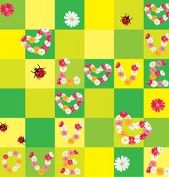daisy love seamless 380 vector image