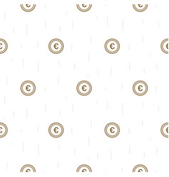 euro currency symbol abstract seamless pattern vector image vector image