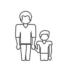 father and son relation family outline vector image