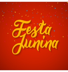 Festa junina celebration poster brazilian festa vector