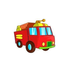 Fire truck icon cartoon style vector