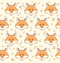 Fox seamless vector