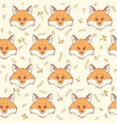 fox seamless vector image