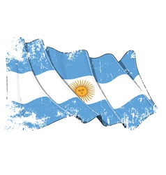 Grange Flag of Argentina vector image vector image