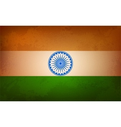 Grungy Indian Flag vector image vector image