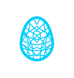 happy easter laser cutting template for greeting vector image