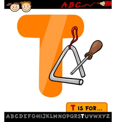 letter t with triangle cartoon vector image vector image