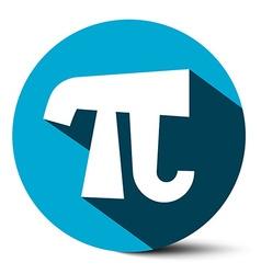 Pi Symbol - 314 - 314159 Ludolf Flat Design Number vector image vector image