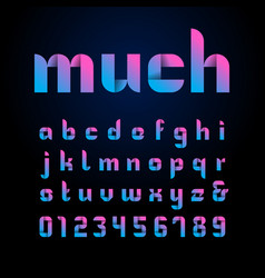 Ribbon font alphabet with latin letters and vector