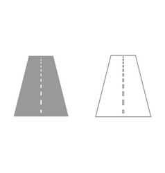 road it is black icon vector image